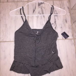 American Eagle Outfitters Tops - American Eagle striped and cropped tank top